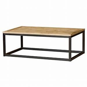Table Basse Bois Metal : table basse bois et m tal masao achat vente table basse table basse bois et m tal m cdiscount ~ Teatrodelosmanantiales.com Idées de Décoration