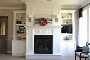 Above Bookcase Lighting Built Ins Around Fireplace Built In Around Fireplace
