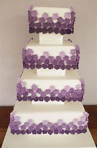 Square purple wedding cakes - idea in 2017 | Bella wedding