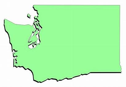 Washington State Clip Map Clipart Road Outline