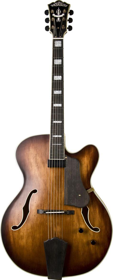 washburn j600k electric classic jazz guitar venetian