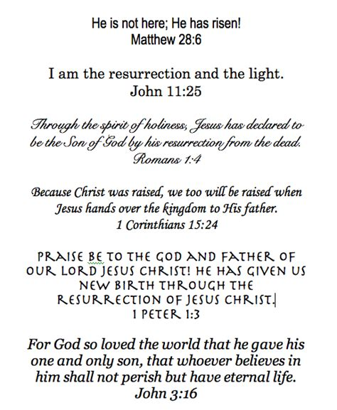 resurrection bible quotes quotesgram 900 | Easter scripture %253A verses