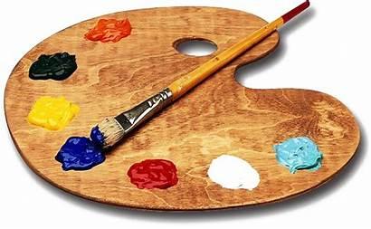 Palette Paint Transparent Clip Paleta Svg Painting