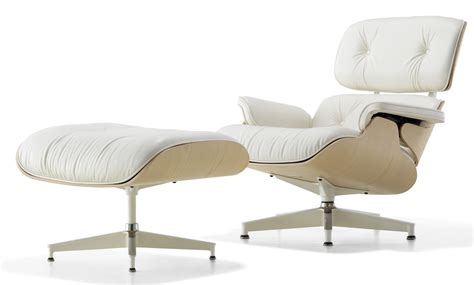 herman miller eames 174 lounge chair and ottoman white ash