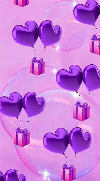 Purple Heart Wallpapers Phone Pretty Bright Cellphone