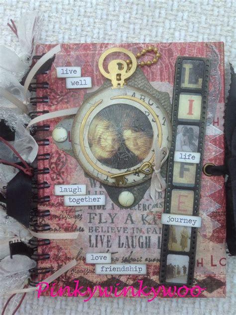 stacked pixie haircuts handmade altered notebook journal mixed media handbook 3077