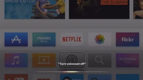 how to turn voice iphone 5 how to turn voiceover on apple tv 4 apple tv 4k tvos 11
