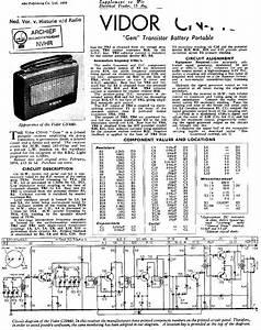 Vidor Cn440 Gem Transistor Battery Portable Receiver 1959 Sm Service Manual Download  Schematics