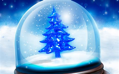 christmas tree in sphere