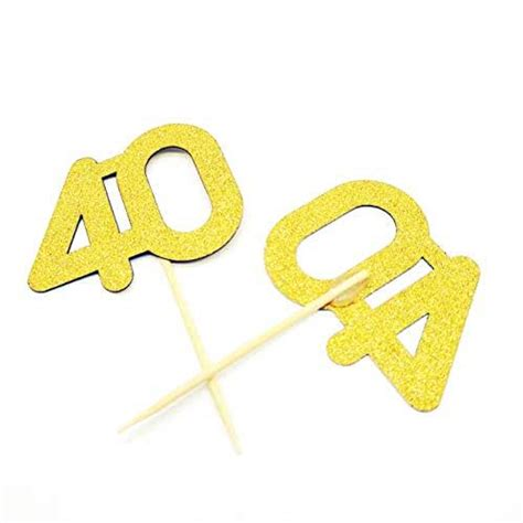 amazoncom gold glitter number  cupcake toppers