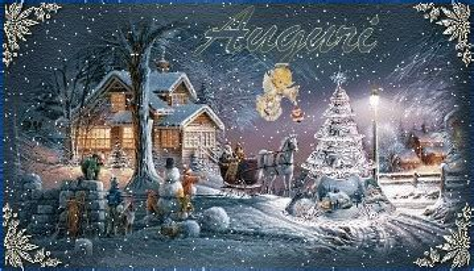 Paesaggi Di Natale 3d Innevati Gif Animate