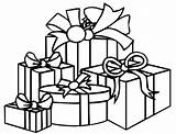 Coloring Gift Presents Boxes sketch template