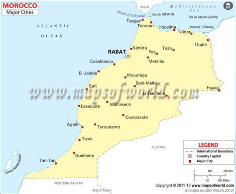 Carte Maroc Avec Villes by Cities In Morocco Morocco Cities Map