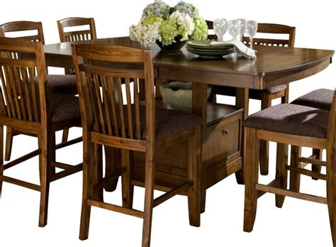 kitchen table with storage base homelegance marcel butterfly leaf counter height table