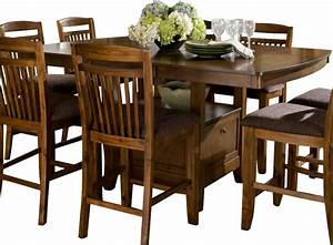 Homelegance, Marcel, Butterfly, Leaf, Counter, Height, Table, With, Storage, Base, -, Traditional