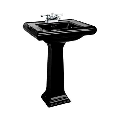 kohler memoirs pedestal combo bathroom sink in black black
