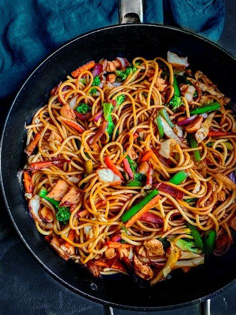 healthy chicken chow mein lo mein recipe video recipe