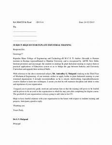 industrial training letter format With how to write application letter for training course