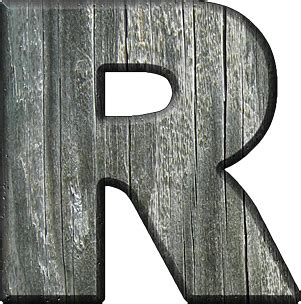 alphabets rough wood letter  wood