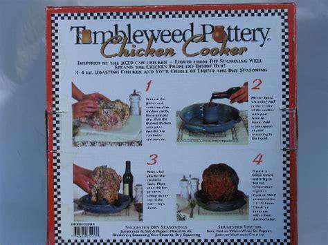 tumbleweed pottery chicken cooker  original box