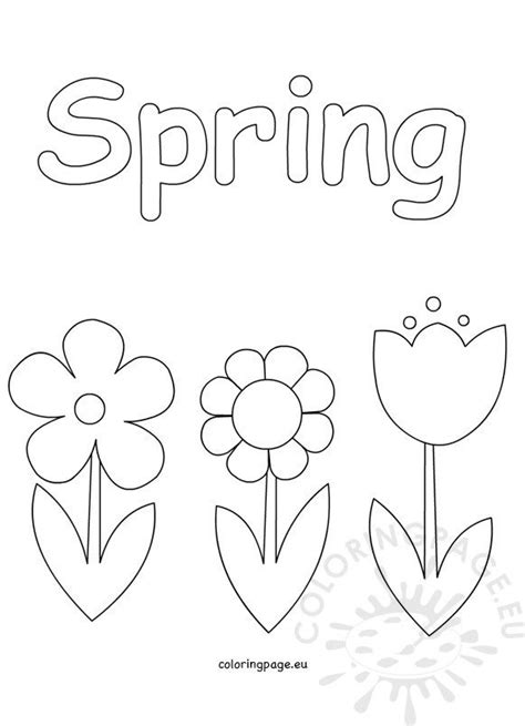 spring coloring pages  kids coloring page