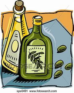 Clipart of An illustration of two bottles of cooking oil ...