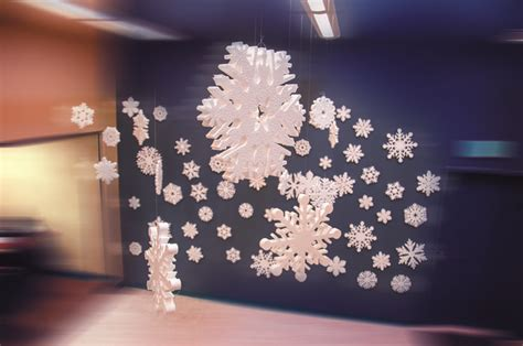 floating styrofoam snowflake
