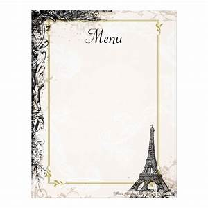 9 best images of printable french menus printable french With french cafe menu template