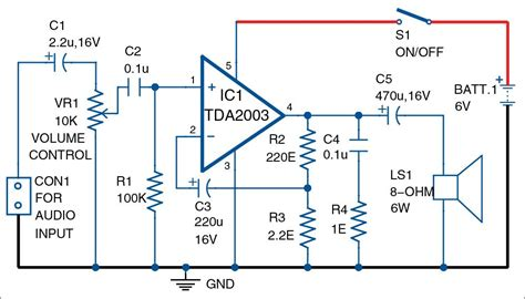 Audio Amplifier Using Tda Detailed Circuit