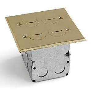 lew electric swb 4 2p floor box brass cover 2 gang