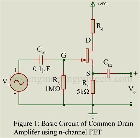 Common Drain Amplifier Using Fet Engineering Projects