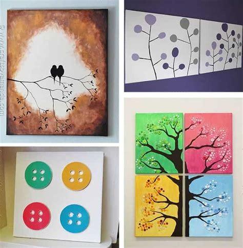 diy wall painting ideas diy canvas wall ideas 30 canvas tutorials Diy Wall Painting Ideas