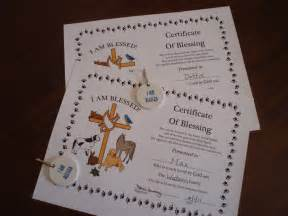 Blessing Animals Certificates