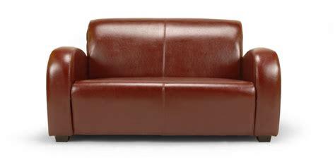 canapé en cuir 2 places petit canapé en cuir soledad