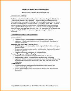 sample job description template business template With writing a job description template