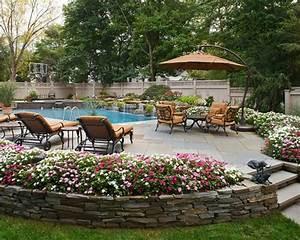 les jardins aux plates bandes fleuries With decoration jardins et terrasses
