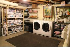 Basement Laundry Room Interior Remodel Interior Basement Laundry Room Makeover Design With Rack Furniture
