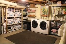 Basement Laundry Room Interior Remodel Interior Basement Laundry Room Makeover Design With Rack Furniture