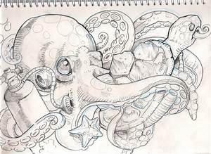 sea stuff tattoo sketch by mojoncio on DeviantArt