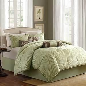 madison park freeport jacquard sage 7 piece comforter set bed bath beyond