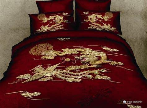 red dragon phoenix comforter bedding set queen size
