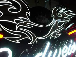 Budweiser Bud Motorcycle harley NEON sign bar light