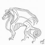 Wings Coloring Fire Pages Dragon Seawing Printable Mudwing Getdrawings Awesome Seawings Getcolorings Print Colorings sketch template