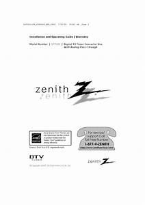 Zenith Tv Converter Box Dtt901 User Guide