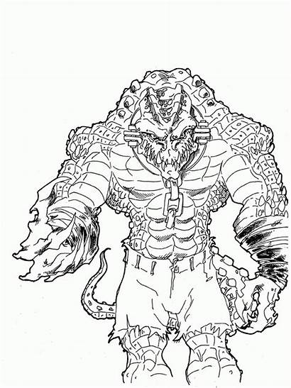 Croc Killer Coloring Pages Drawing Sketch Suicide