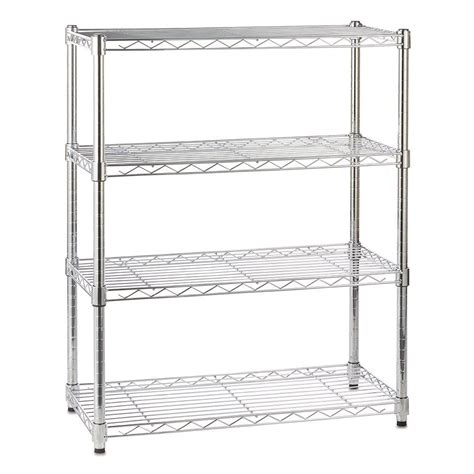 Wire Shelving by Chrome Wire Shelving Unit With 4 Shelves