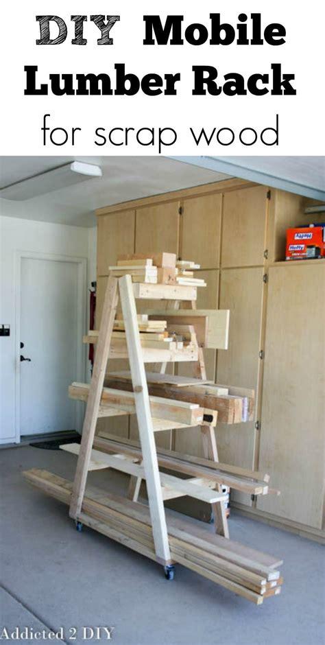 diy mobile lumber rack lumber rack scrap  organizing