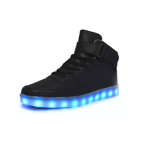Unisex High Tops Light Up Shoes Black Neonjam London
