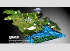 maps&maps Beautiful Bangladesh Map