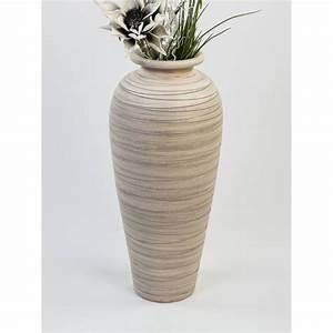 Deko Für Bodenvase : deko bodenvase streifen h 60cm creme grau keramik formano ebay ~ Indierocktalk.com Haus und Dekorationen